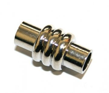 1pce x 19*10mm Rhodium plated barrel magnetic clasp - S.F05 - 2801011